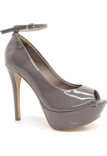Sapato Bebecê Peep Toe Fivela
