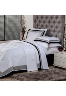 Edredom Solteiro Soft Comfort Poliéster Branco