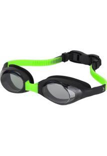 Óculos De Natação Oxer Flash - Infantil - Preto/Verde