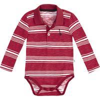 Body Polo Bebê Menino Em Malha Flamê Estampada Puc       0273d77ae42