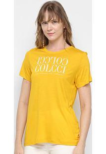Camiseta Colcci Logo Básica Feminina - Feminino-Amarelo
