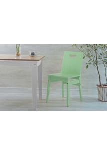 Cadeira De Jantar De Madeira Tucupi Laca Verde Sálvia 40X51X81Cm