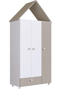 Guarda Roupas 3 Portas E 1 Gaveta Children'S House Branco Artinmóveis - Tricae
