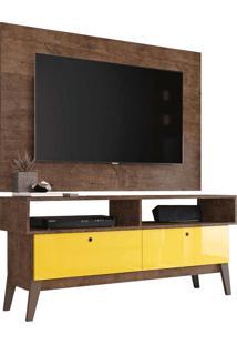 Rack Com Painel Para Tv De Até 49 0805P - Genialflex - Demolição / Amarelo