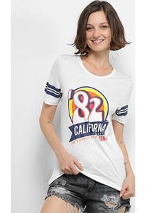 Camiseta T-Shirt Carmim California Feminina - Feminino-Off White