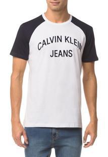 Camiseta Ckj Mc Est Logo Curva - Marinho - Pp