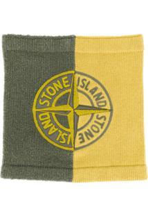 Stone Island Cachecol De Tricô Com Logo - Verde