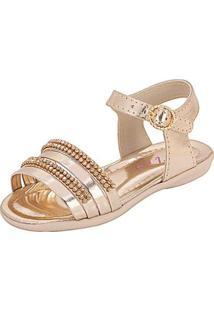 Sandália Infantil Plis Calçados Graciosa Feminina - Feminino-Dourado