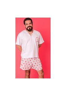 Pijama Adulto Amore Masculino Multicolorido