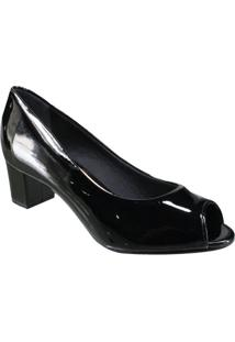 Sapato Beira Rio Conforto Peep Toe