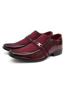 Sapato Social Verniz Fork Vinho