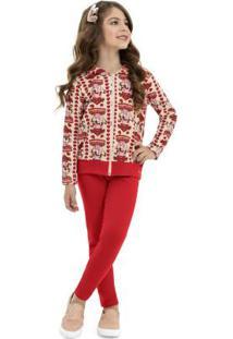 Conjunto Jaqueta E Calça Vermelho