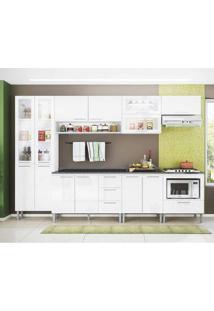 Cozinha Compacta Emanuella 13 Pt 4 Gv Branca