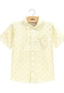 Camisa Infantil Masculina Amarelo