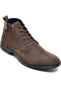 Bota Dress Boot Masculino Eco Canyon Broklin Suede - Masculino-Marrom
