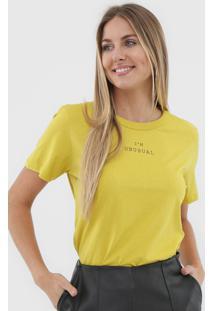 Camiseta Colcci Unusual Amarela - Kanui