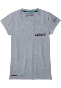 Camiseta N44 Lewis Amg Petronas F1 Feminina - Feminino