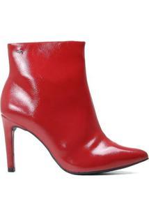 Bota Dakota Ankle Boot Cano Curto Verniz Feminina - Feminino