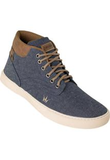 Sapato Masculino Jeans Modelo Cano Médio