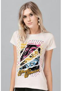Camiseta Bandup Wonder Woman Fashion Star - Feminino-Off White