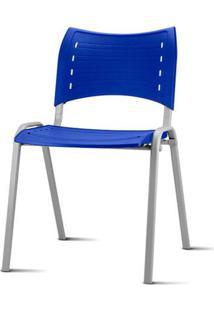 Cadeira Iso Assento Azul Base Cinza - 54038 - Sun House