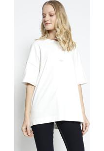 Camiseta ''Colcci 1986'' - Off White & Preta - Colcccolcci