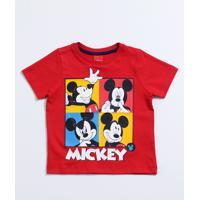 151913378 Camiseta Para Meninos Cinza Vermelha infantil