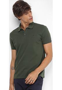 90f4069e1d Camisa Polo Jab Piquet Friso Masculina - Masculino-Verde Militar