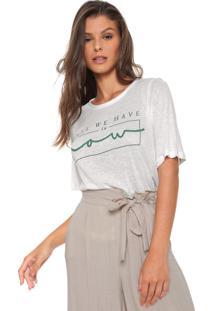 Camiseta Enna Estampada Off-White