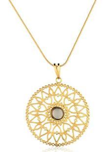 Colar Toque De Joia Mandala Indiana - Feminino-Dourado