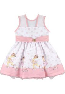 Vestido Para Festa Essência Viva Pequena Bailarina Rosa