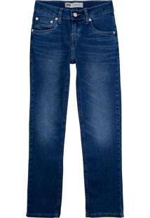Calã§A Jeans Levis 511 Slim Infantil - 20002 Azul - Azul - Menino - Dafiti