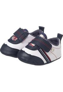 Sapatinho Bebê Plis Calçados Golf Masculino - Masculino-Branco