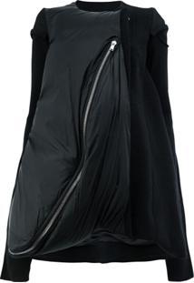 Rick Owens Jaqueta Oversized Com Camadas - Preto