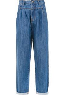 Amapô Calça Jeans Pregas - Azul