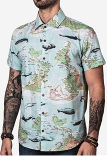 Camisa Maps And Whales 200036