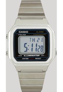 Relógio Digital Casio Unissex - B650Wd1Adf Prateado