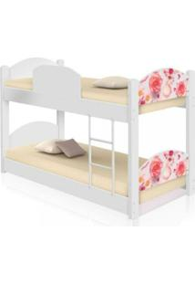 Beliche Infantil Rosas Com 2 Colchãµes Casah - Branco/Rosa - Menina - Dafiti