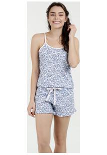 Pijama Feminino Short Doll Estampa A Bela E A Fera Disney