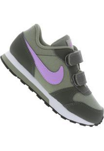 24c103f52db61 Tênis Para Bebê Nike Md Runner 2 Td Feminino - Infantil - Verde Esc/Roxo