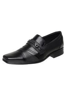 Sapato Vossavest Social Tradicional Couro Preto 3021