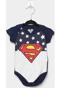 Body Infantil Marlan Superman Bebê - Masculino-Marinho