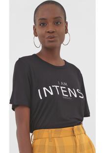 Camiseta Colcci I Am Intense Preta - Preto - Feminino - Viscose - Dafiti