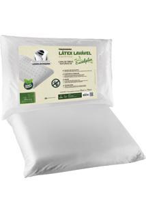 Travesseiro Fibrasca Latex Sintético Eucaliptus Lavável 50X70Cm Branco