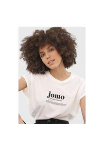 Camiseta Vero Moda Lettering Off-White