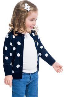 Casaco Infantil Feminino Kyly Tricot 207087.6826.6