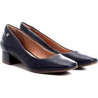 0fd0f0651b Scarpin Azul Marinho Salto Baixo feminino | Shoes4you