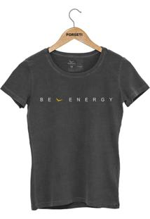 Camiseta Forseti Estonada Be Energy Chumbo