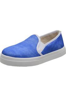 Slippers Estampa Jeans Stefanello Tor01 Azul Bic