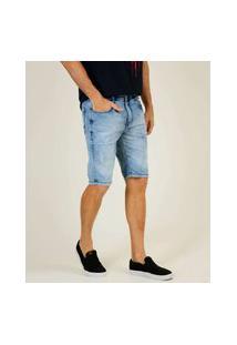 Bermuda Masculina Jeans Bolsos Razon